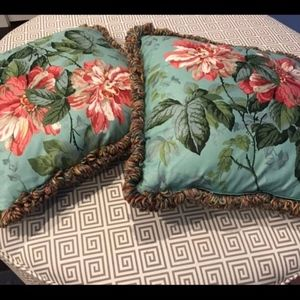Other - Two Floral Decorative Pillows